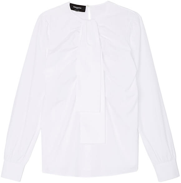 ROCHAS white tie-neck blouse