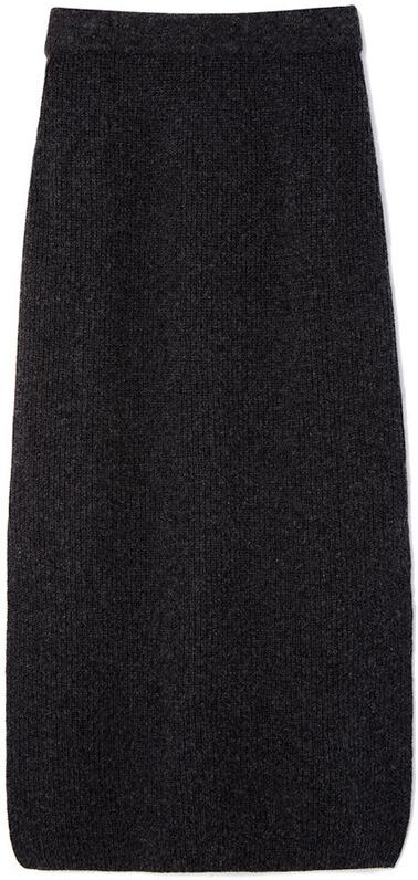 REJINA PYO knit grey skirt