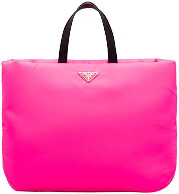 PRADA pink nylon tote