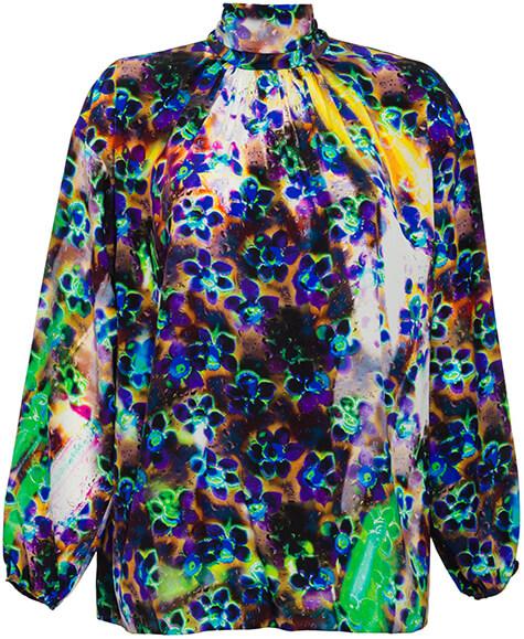 Prada colorful printed BLOUSE