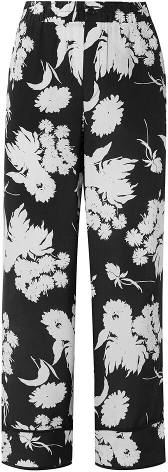 GANNI black+white printed pants