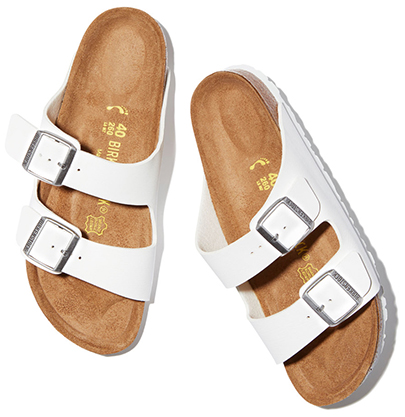 Arizona white Birkenstock