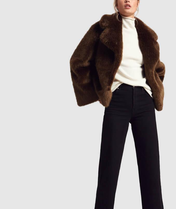 Nili Lotan Fur Coat Editorial Image