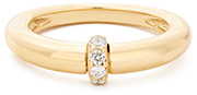 SOPHIE RATNER gold ring with diamond center