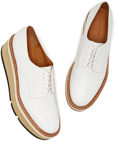 CLERGERIE white flatform loafer Shoes