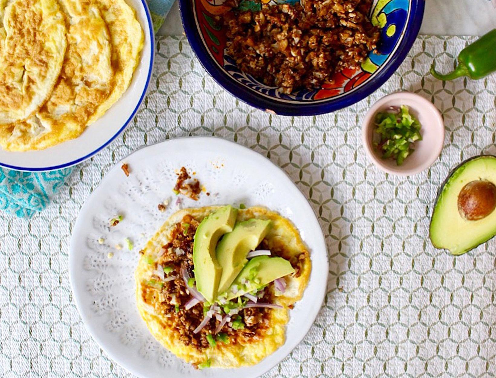 """Cauliflower """"Chorizo"""" Tacos"""