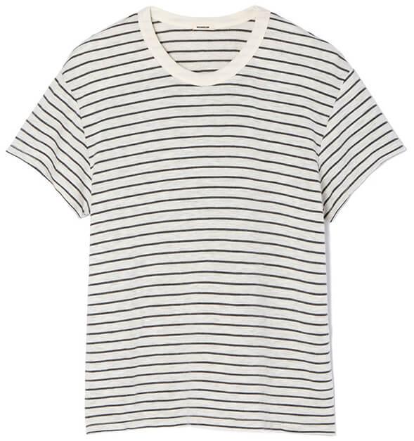 white stripe MONROW TEE