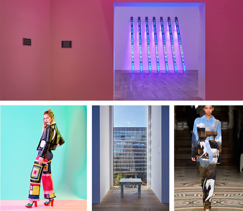 Collage featuring art from the Tate Modern, Stella McCartney