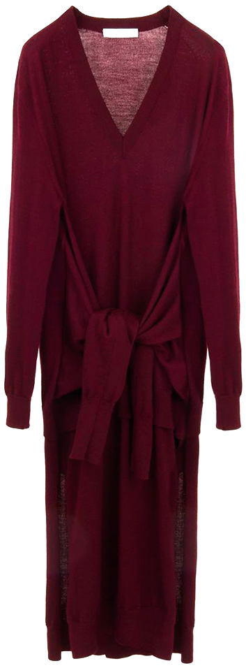 CHLOÉ red knit dress