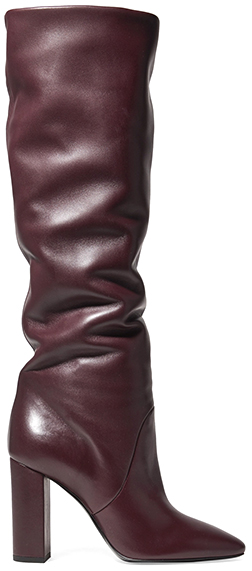 SAINT LAURENT tall red boot