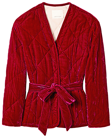 REBECCA TAYLOR dark red quilted jacket