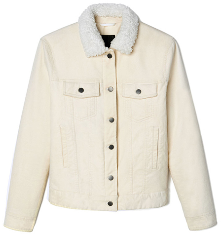 ATM ANTHONY THOMAS MELILO white shearling jacket