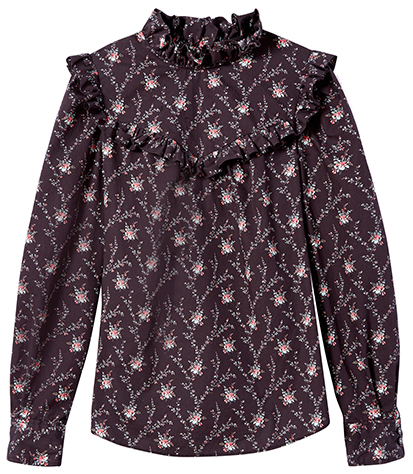 LA VIE REBECCA TAYLOR purple printed blouse