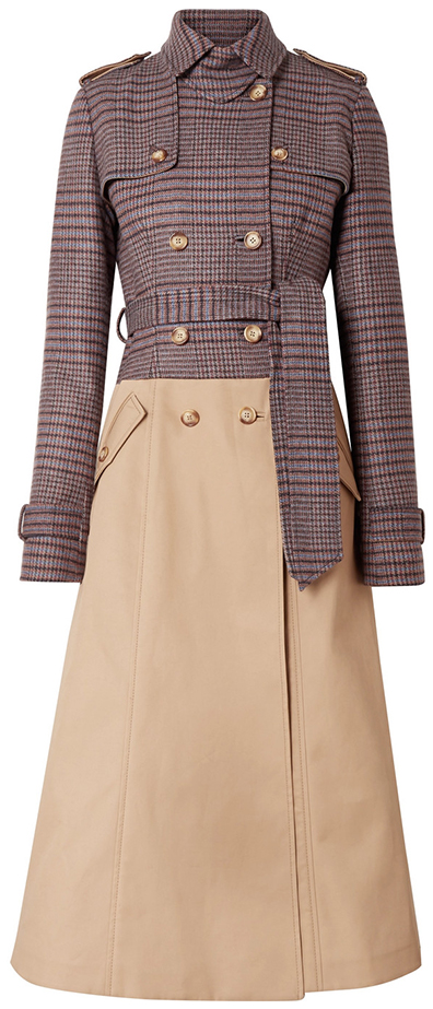 GABRIELA HEARST plaid trench coat