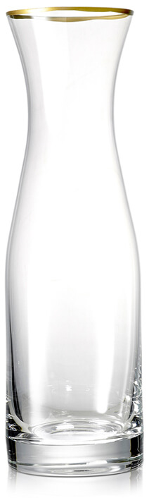 Glass Water Carafe With Gold Rim