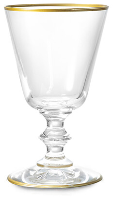 Glass Goblet with Gold Rim