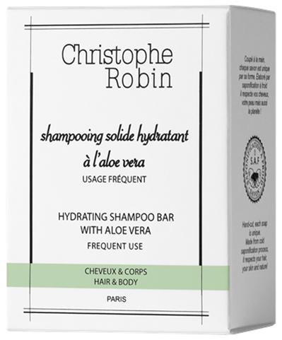 Christophe Robin Hydrating Shampoo Bar with Aloe Vera