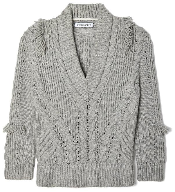 SPENCER VLADIMIR grey sweater