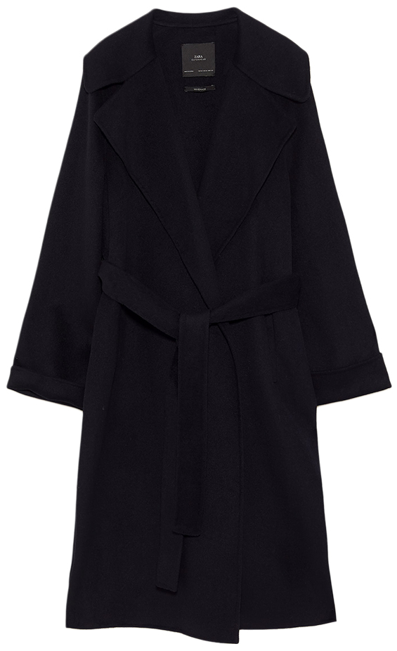 ZARA black wrap coat
