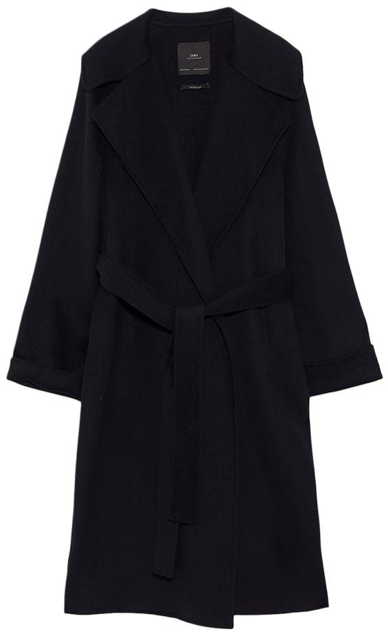 ZARA black wrap coat