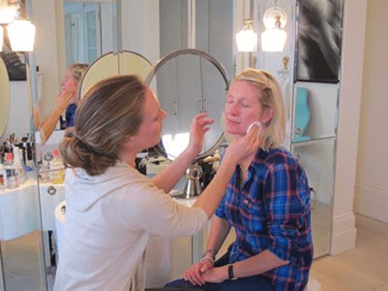 Emma Lovell Cleaning Kate Skrypec's Face