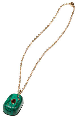 MARLO LAZ gold green Necklace