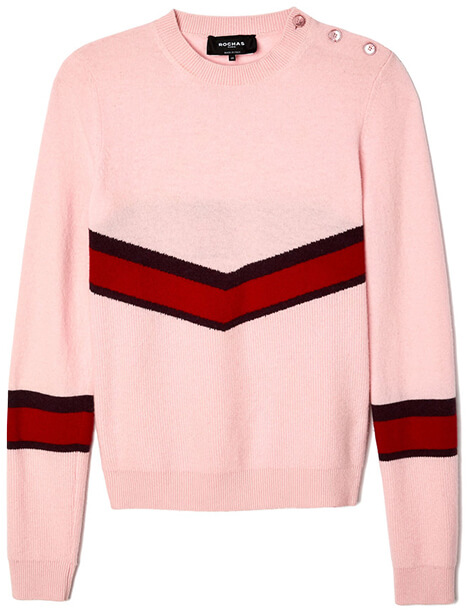 ROCHAS pink and red sweater
