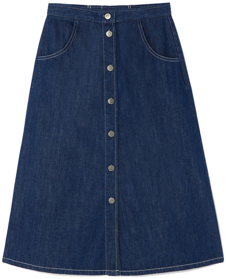 One Piece Three Ways: The Swingy Denim Skirt