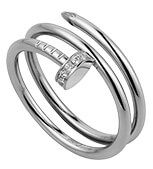 cartier WHITE GOLD RING WITH DIAMONDS