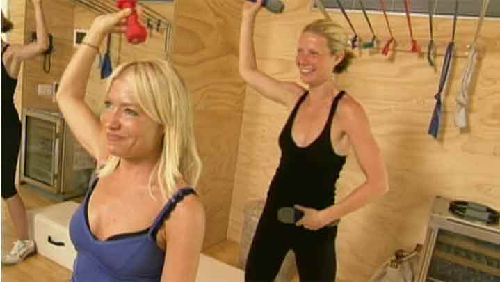 Tracy Anderson and GP exercising