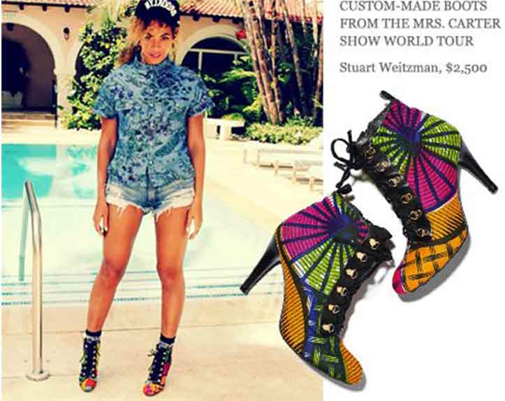 Beyonce modeling shoes