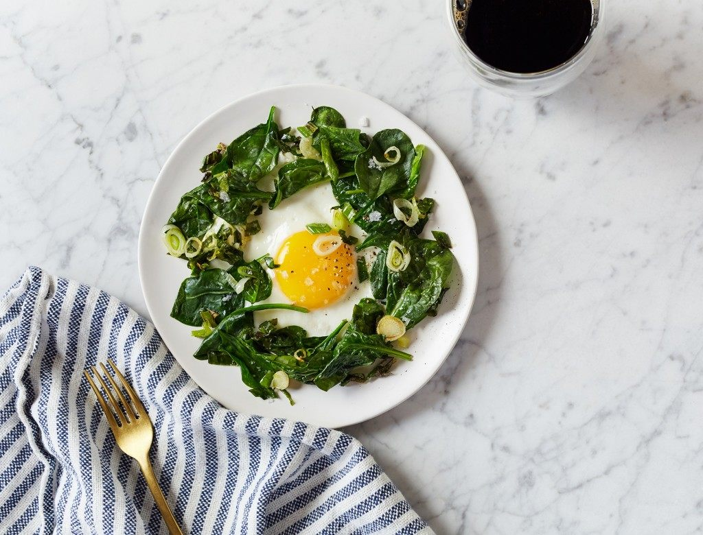 One Pan Eggs and Greens