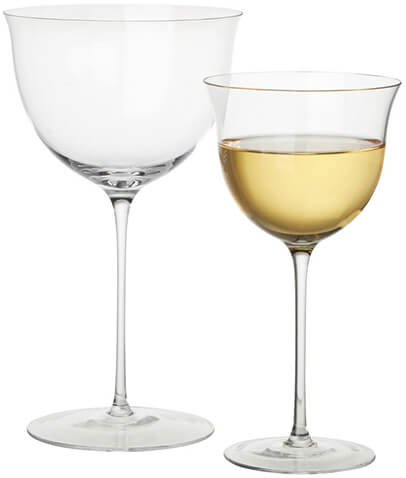 goop x CB2 white wine glass