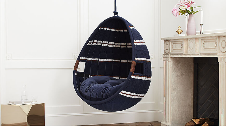 CB2 swing chair