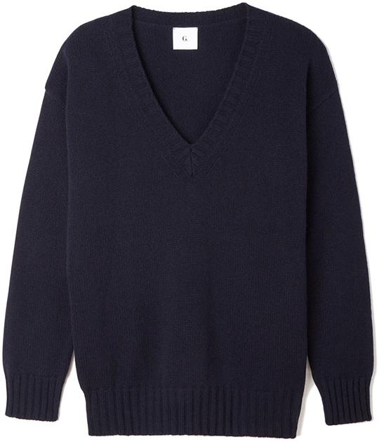 G. LABEL Thea Navy Sweater