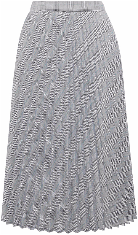 IRIS & INK grey pleated skirt