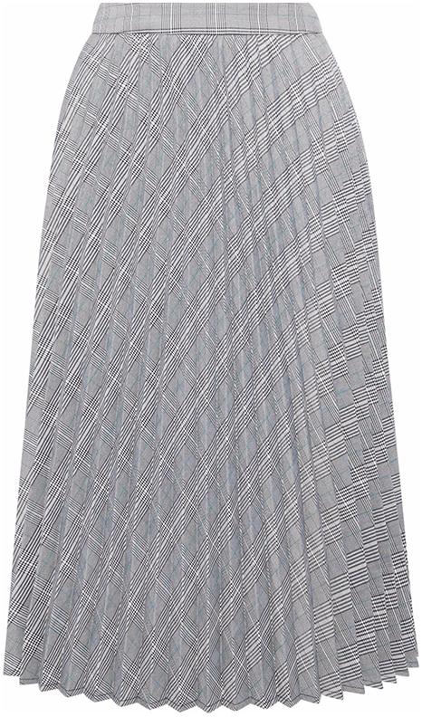 IRIS & INK grey pleated skirt