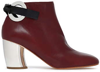 PROENZA SCHOULER burgundy ankle boots