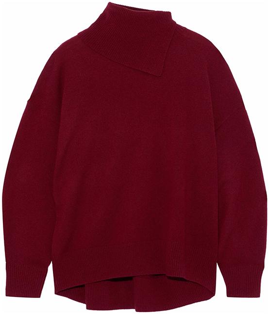IRIS & INK burgundy sweater