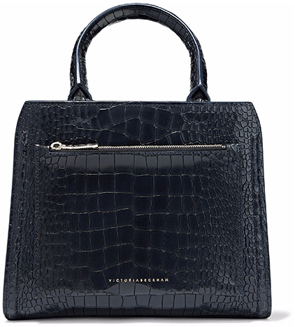 VICTORIA BECKHAM black croc-effect BAG