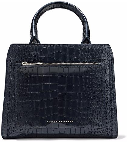 VICTORIA BECKHAM black croc-effect BAG
