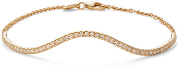 BONDEYE JEWELRY gold wavy diamond bracelet