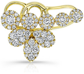 ANNE SISTERON cluster diamond ear cuff
