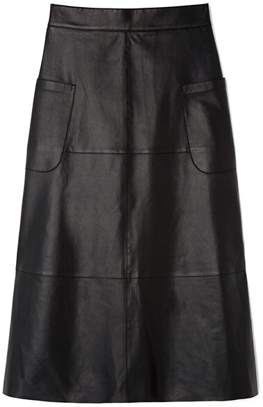 Luxe Black Leather Skirt