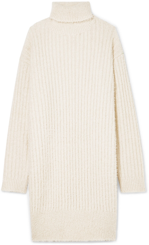 GIVENCHY white sweater dress