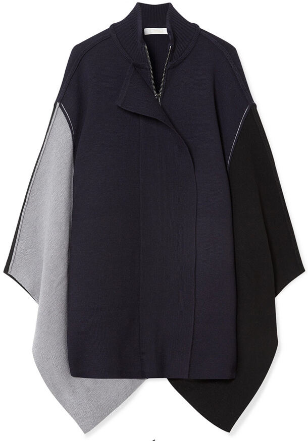 navy+grey Chloe cape