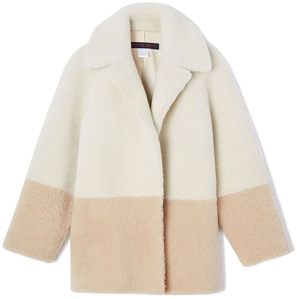 Martin Grant tri-tone color coat