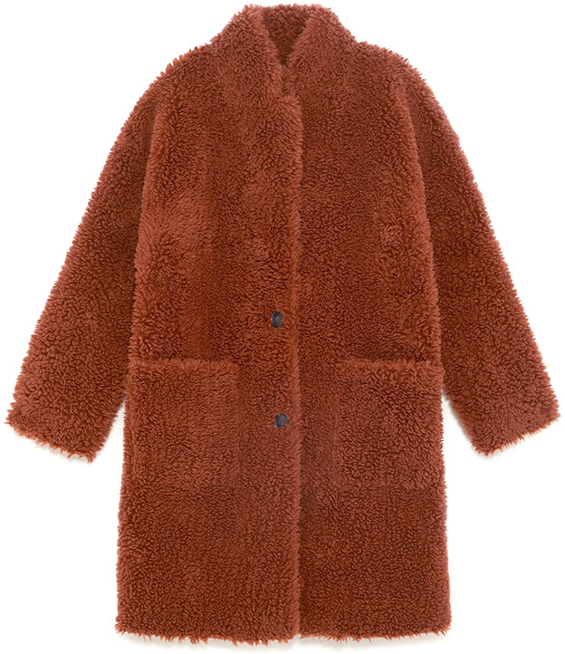 Zara brown fur coat