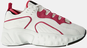 ACNE chunky white+red SNEAKERS