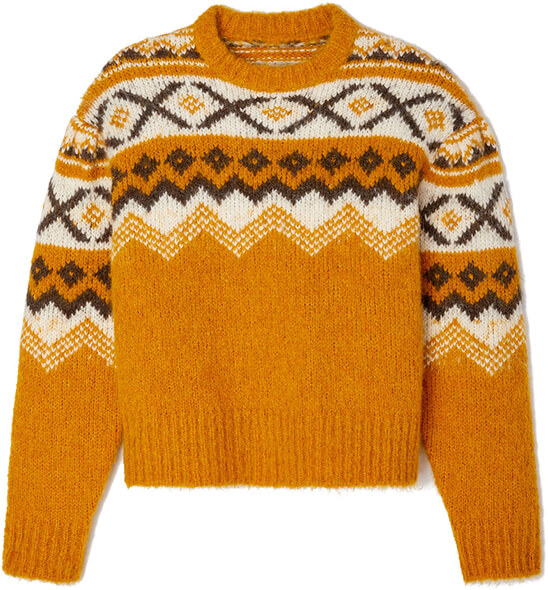 yellow fair isle SWEATER